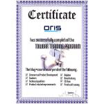 Montážní certifikát Oris pro autoservisy